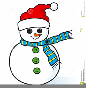 Skinny Snowman Clipart.