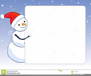 Snowman Borders Clipart.