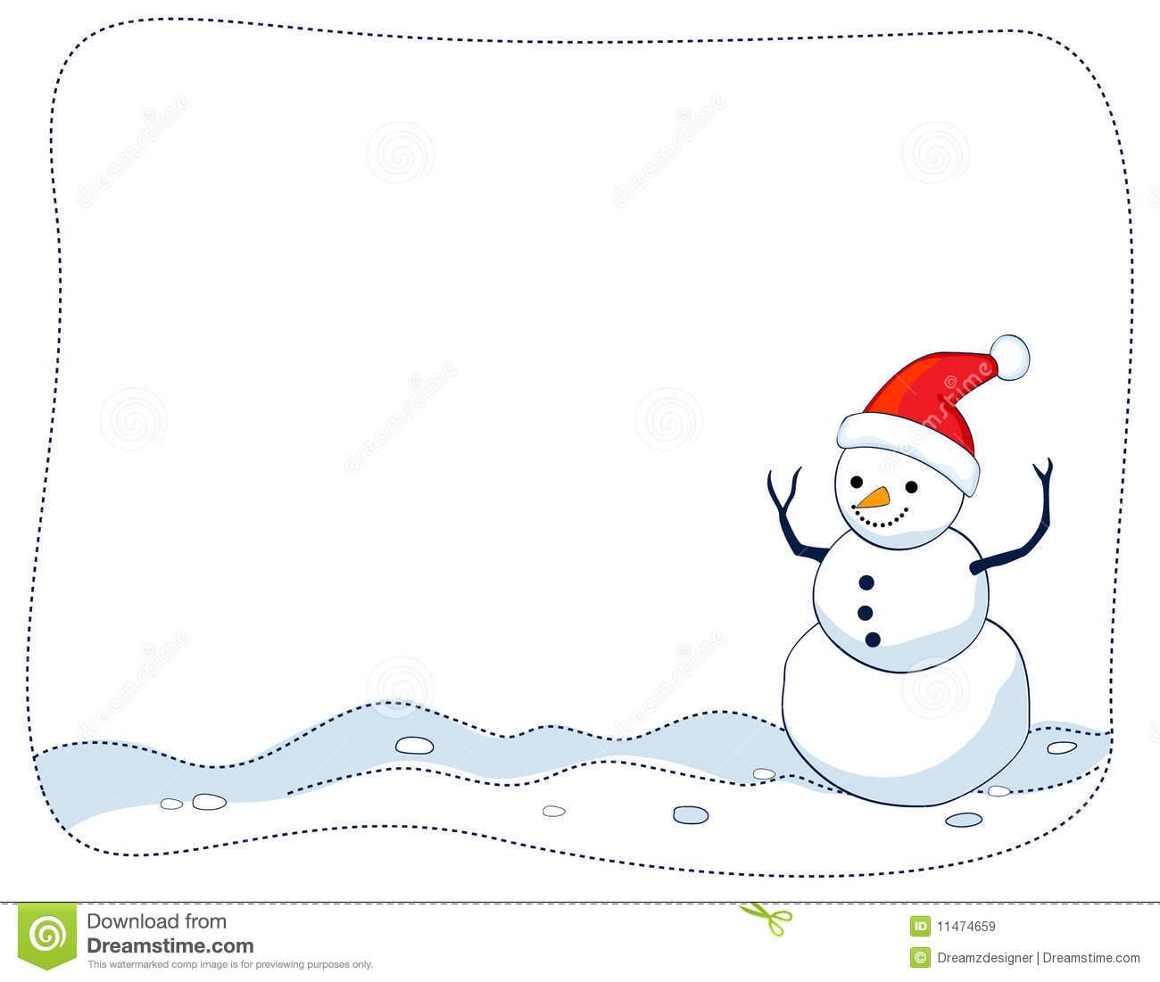 Snowman border / frame stock vector. Illustration of christmastime.