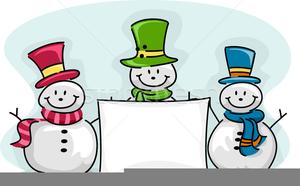 Free Clipart Snowman Border.