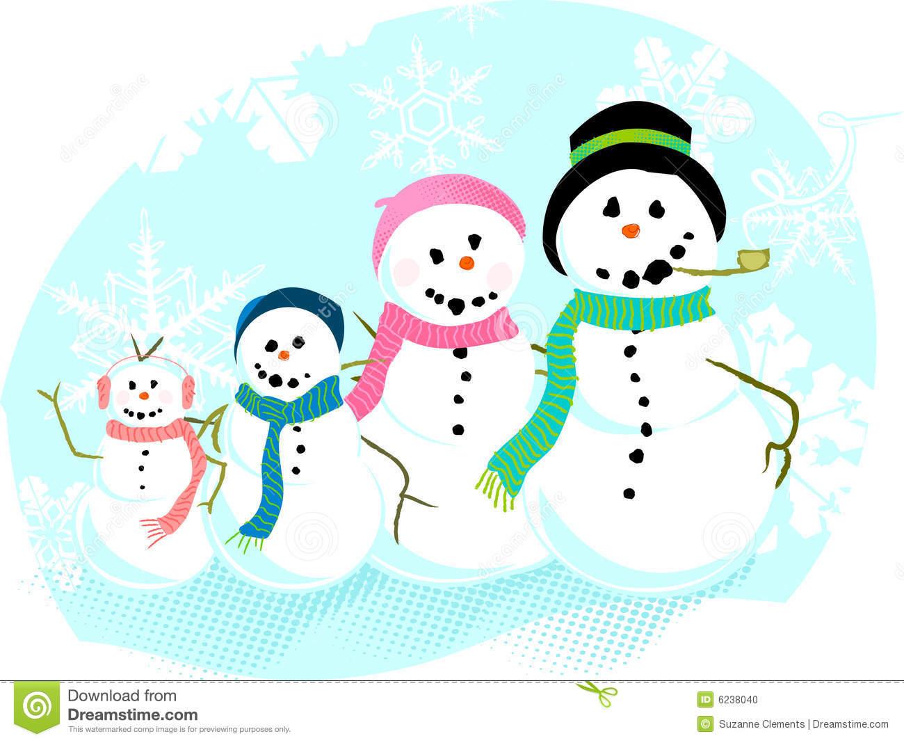 Snowman family clip art free.