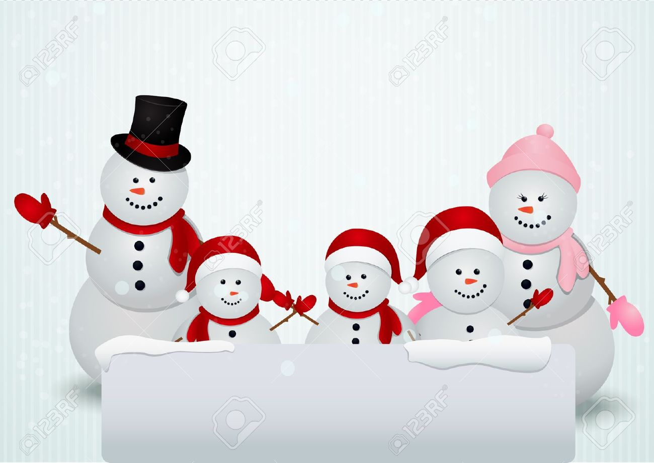 Snowman Family Clipart.