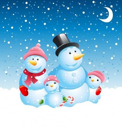 Snowman Clipart Family.
