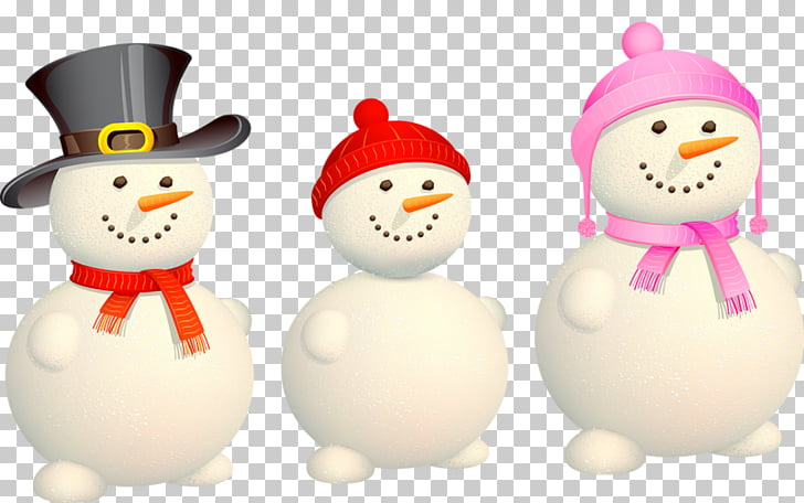 Christmas Eve Snowman Family Illustration, Creative cute.