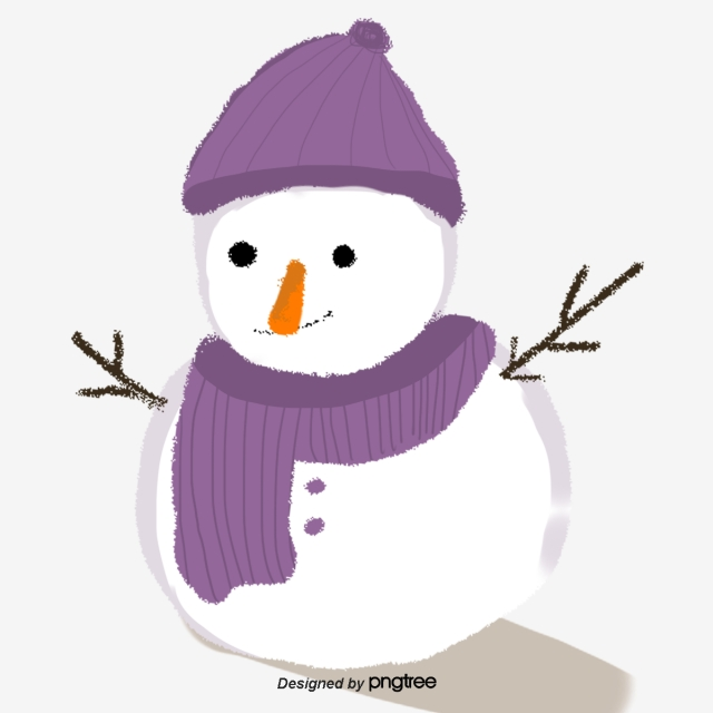 Purple Hat Scarf Snowman, Scarf, Christmas, Make A Snowman PNG.