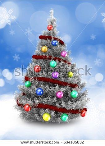 Snow Christmas Tree Stock Photos, Royalty.