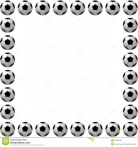 Soccer Ball Border.