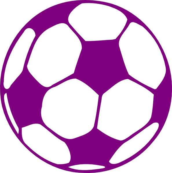 purple soccer ball.