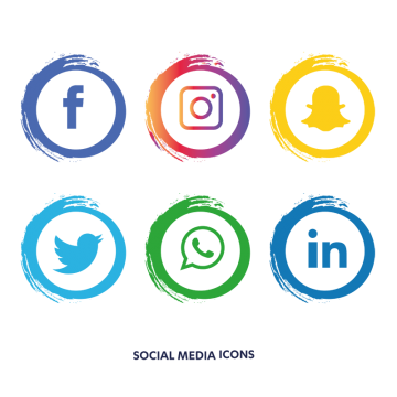 Social Media Icons Png, Vector, PSD, and Clipart With.