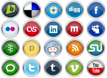 Chrome Social Media Icons Clipart Picture Free Download.