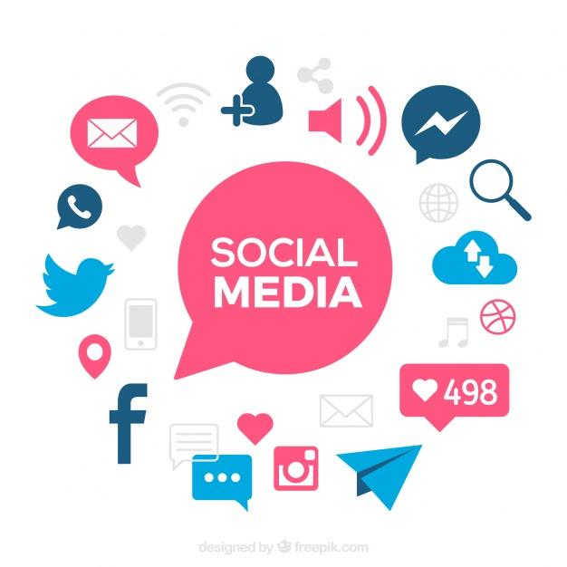 1180 Social Media free clipart.