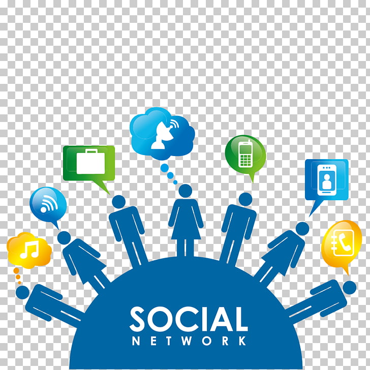 Social media Social network , Business people and icons PNG.