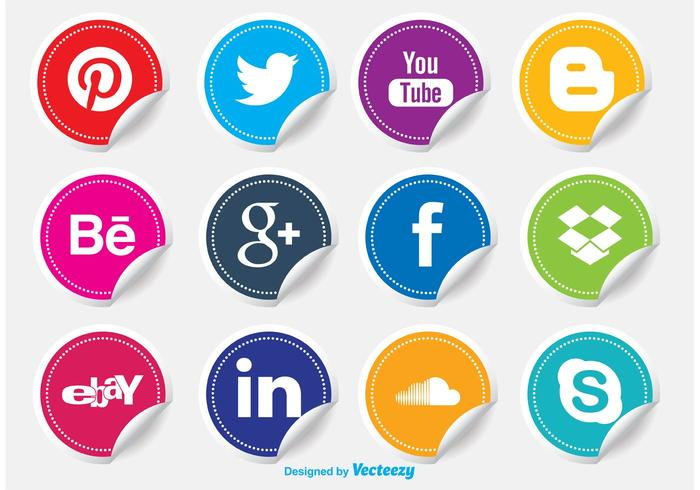Social Media Icon Stickers.