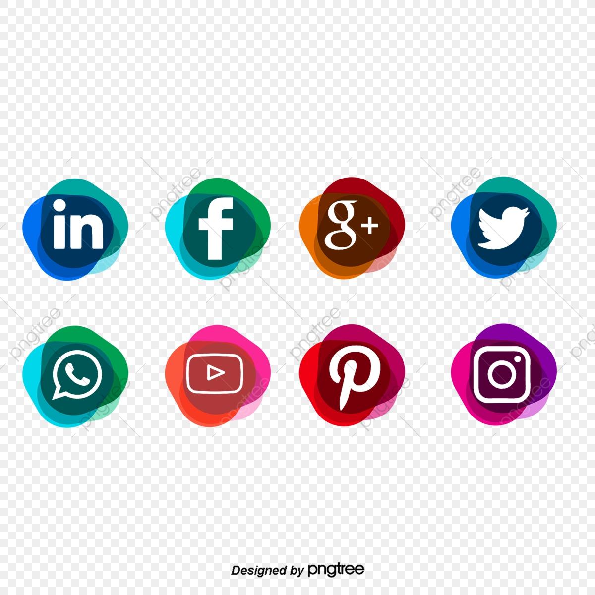 Fashion Gradual Social Media Icons, Social Media Icons, Social Media.