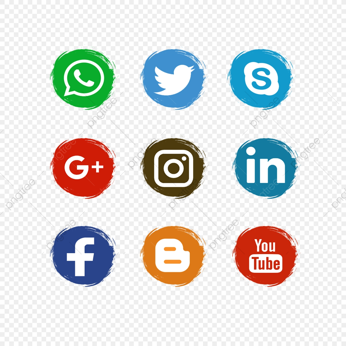 Social Media Icons, Social Media Icons Vector PNG and Vector with.