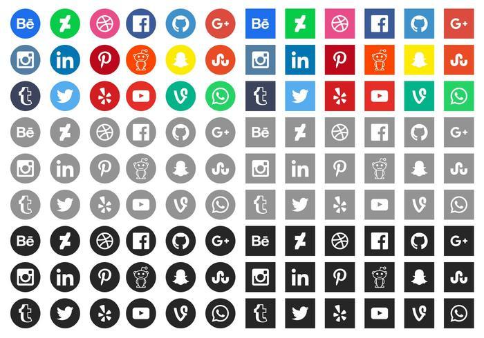 Free Social Media Icons Vector.