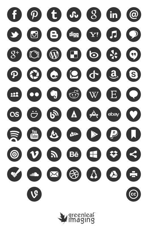 Free social media icons.