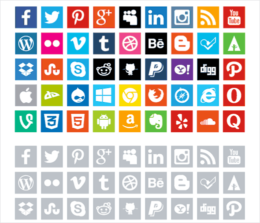 16 Best Free Social Media Icon Sets for WordPress.