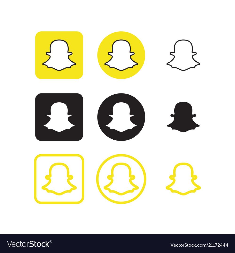 Snapchat social media icons.