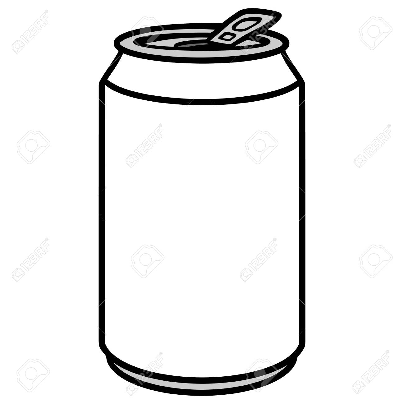 Soda Can Illustration.