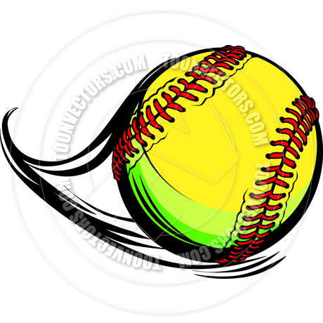 fast pitch softball clip art.