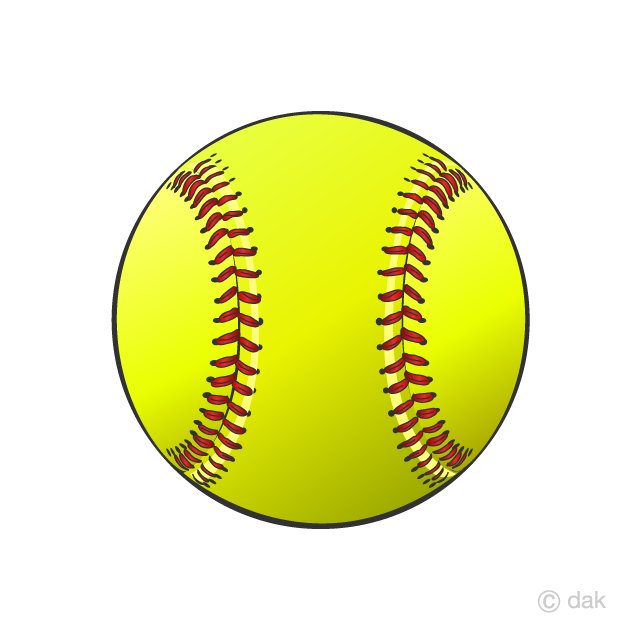 Free Softball Ball Clipart Image|Illustoon.