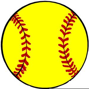 Free Yellow Softball Clipart.