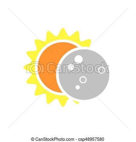 Total Solar Eclipse Icon on August 8, 2017.