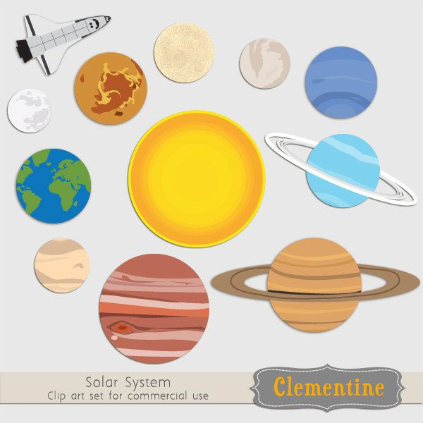 Solar System clip art images, planet clip art, solar system.