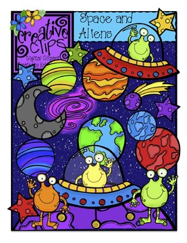 Space and Aliens {Creative Clips Digital Clipart}.