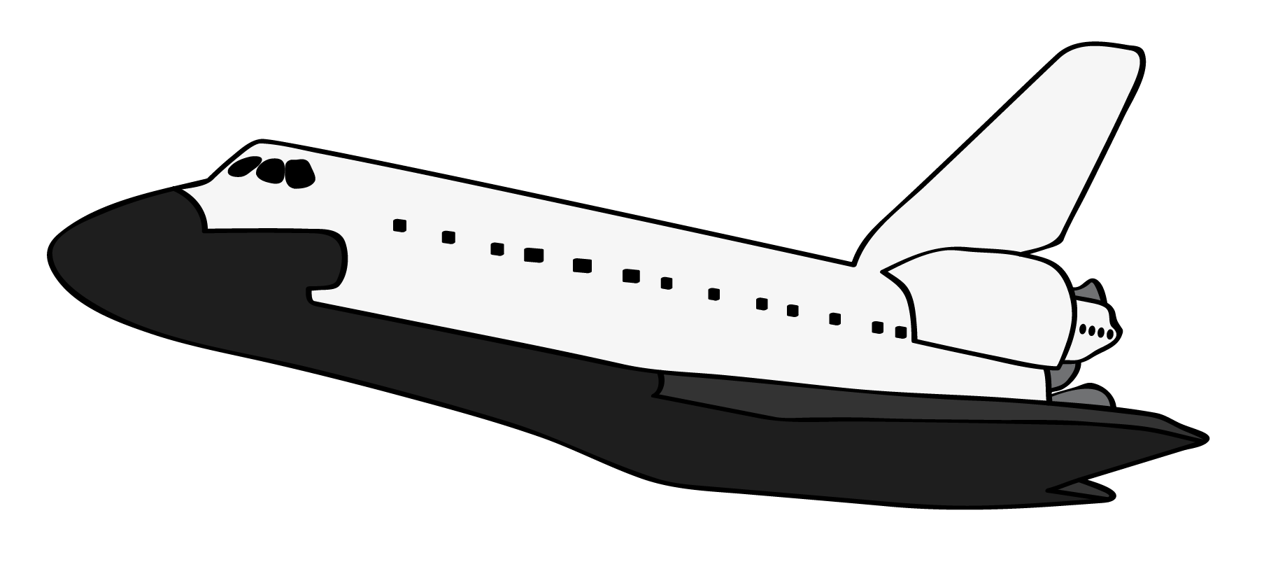 Clipart Of Space Shuttle.