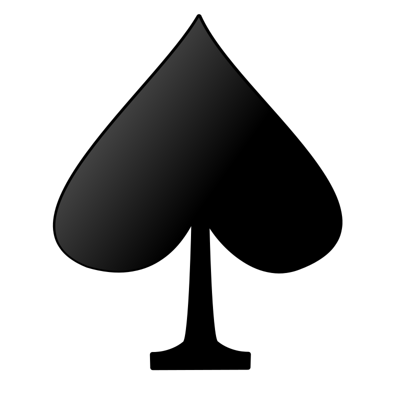 Free Clipart: Card symbols: Spade.