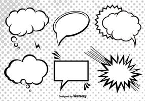 Speech Bubble Free Vector Art.