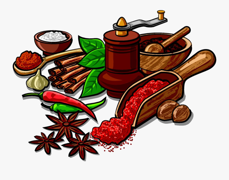 Indian Cuisine Spice Herb Clip Art Star.