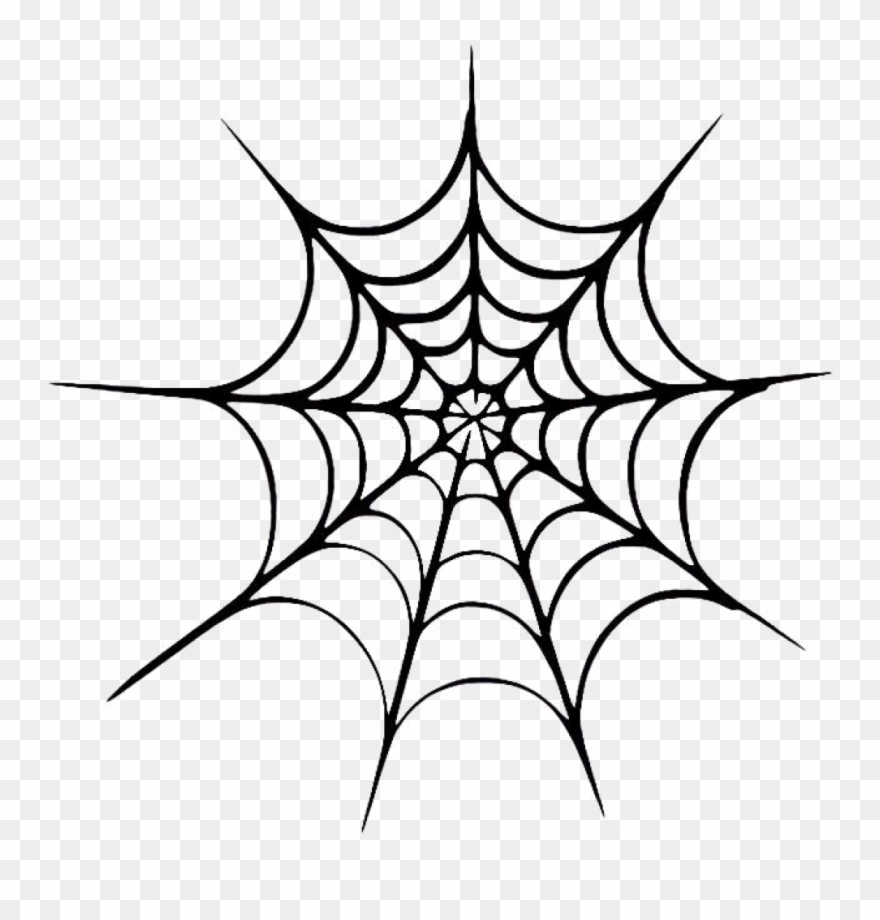 Halloween Spider Web Vector Free Transparent Image.