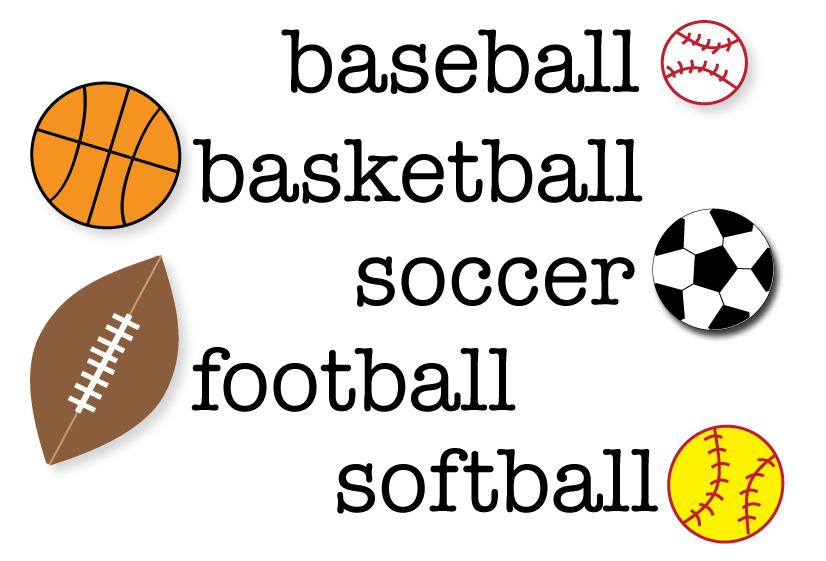 Free Sports Clipart For Teachers.