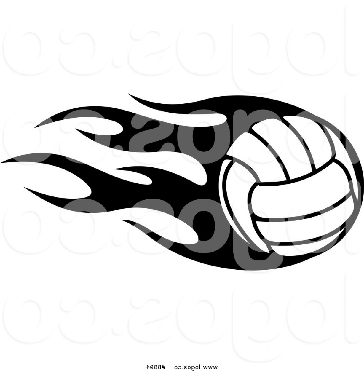 Royalty Free Clip Art Vector Sports Logo Of A Black And White.