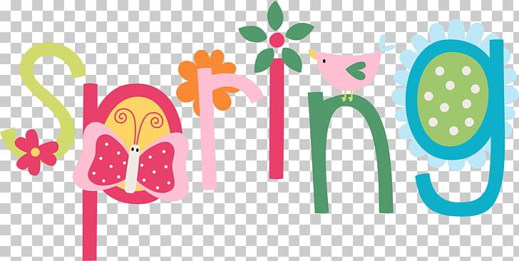 Teacher Spring, spring banner PNG clipart.