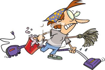 wllpaperimage two: an Angry Housewife Doing Spring Cleaning Royalty.