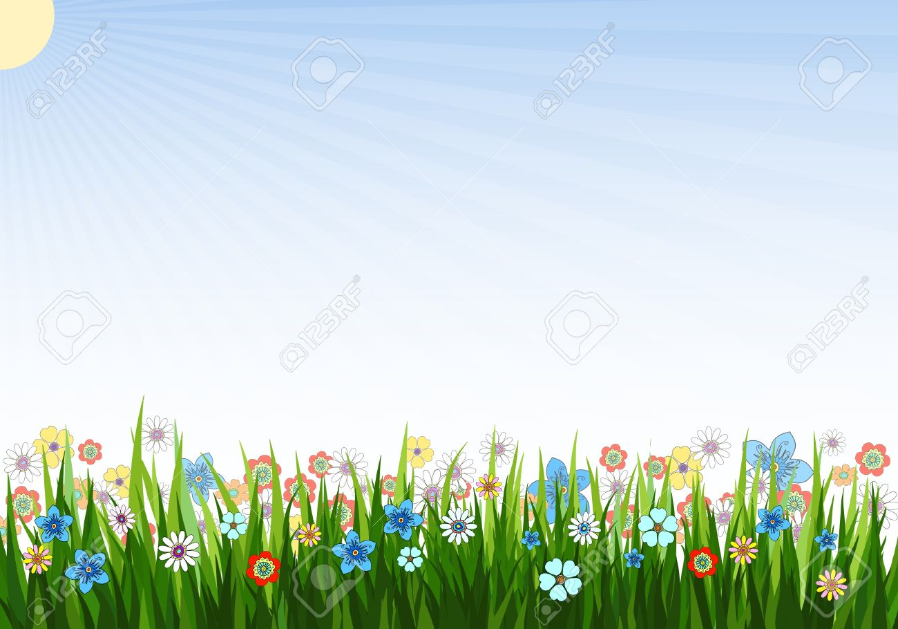 Spring Background Clipart.