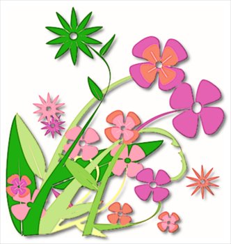 Spring Flowers Clipart.