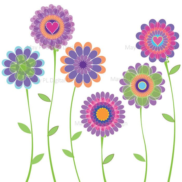 free spring flowers clip art images.