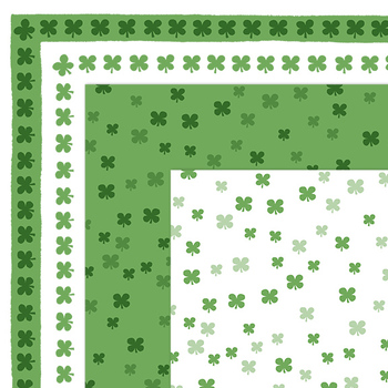 Clip Art: FREE St. Patrick's Day Shamrock Borders and Digital Papers.