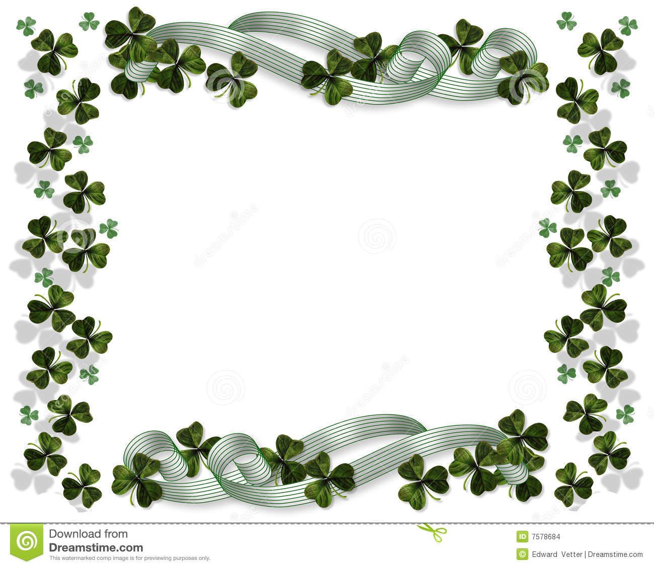 St Patricks Day Border stock illustration. Illustration of lucky.