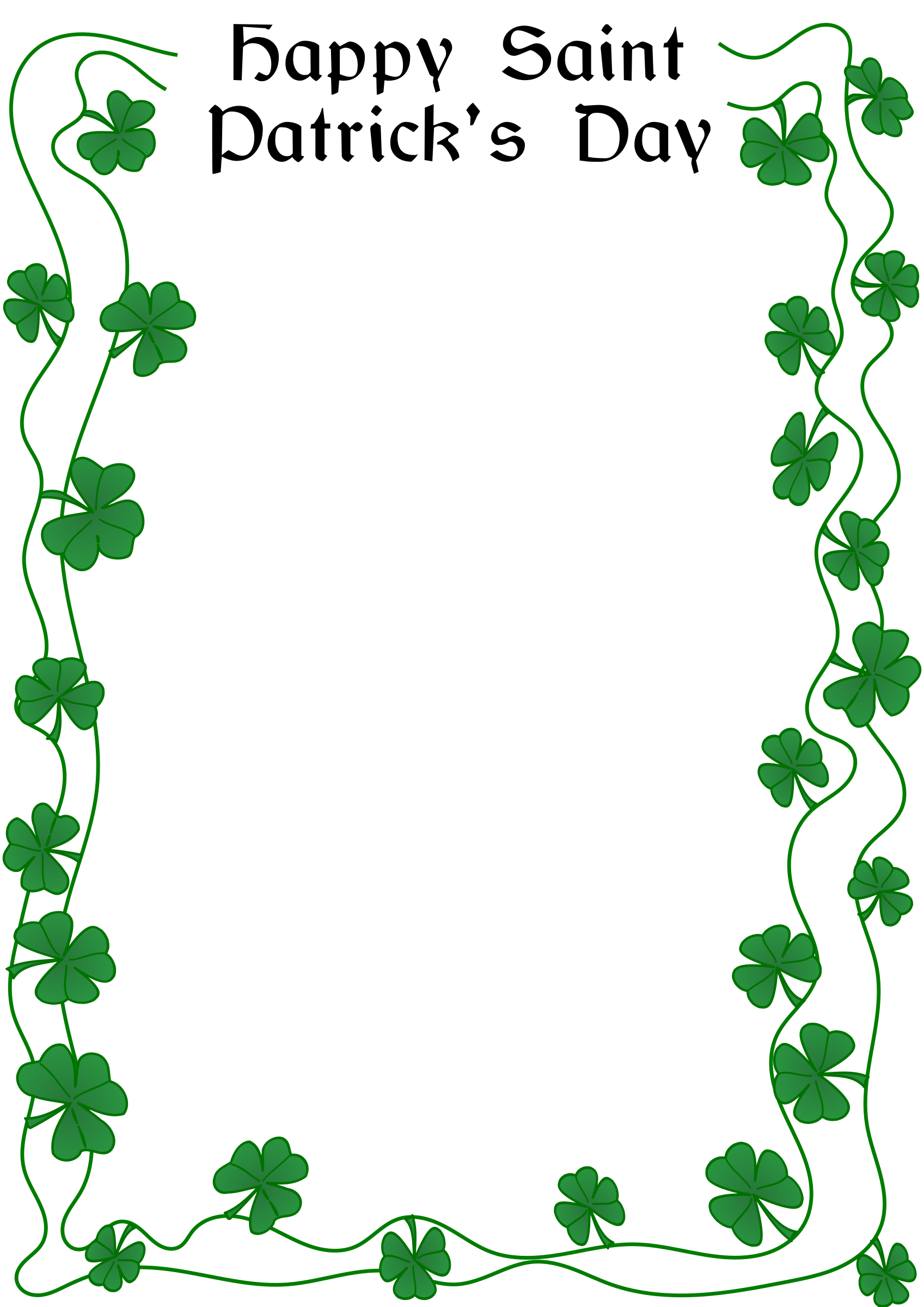 St Patrick's Day border by @Arvin61r58, St. Patrick's Day border, on.