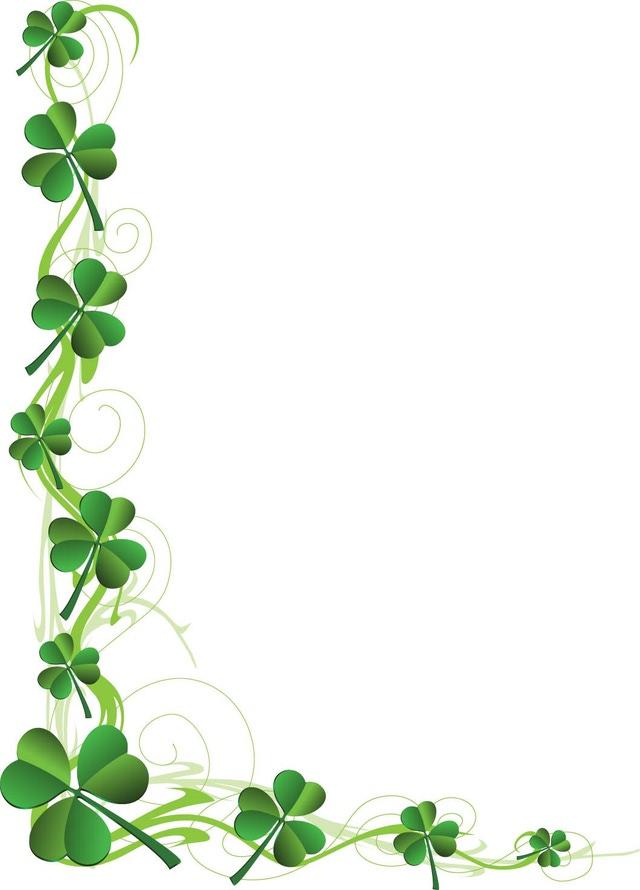 St Patricks Day Border Clipart.