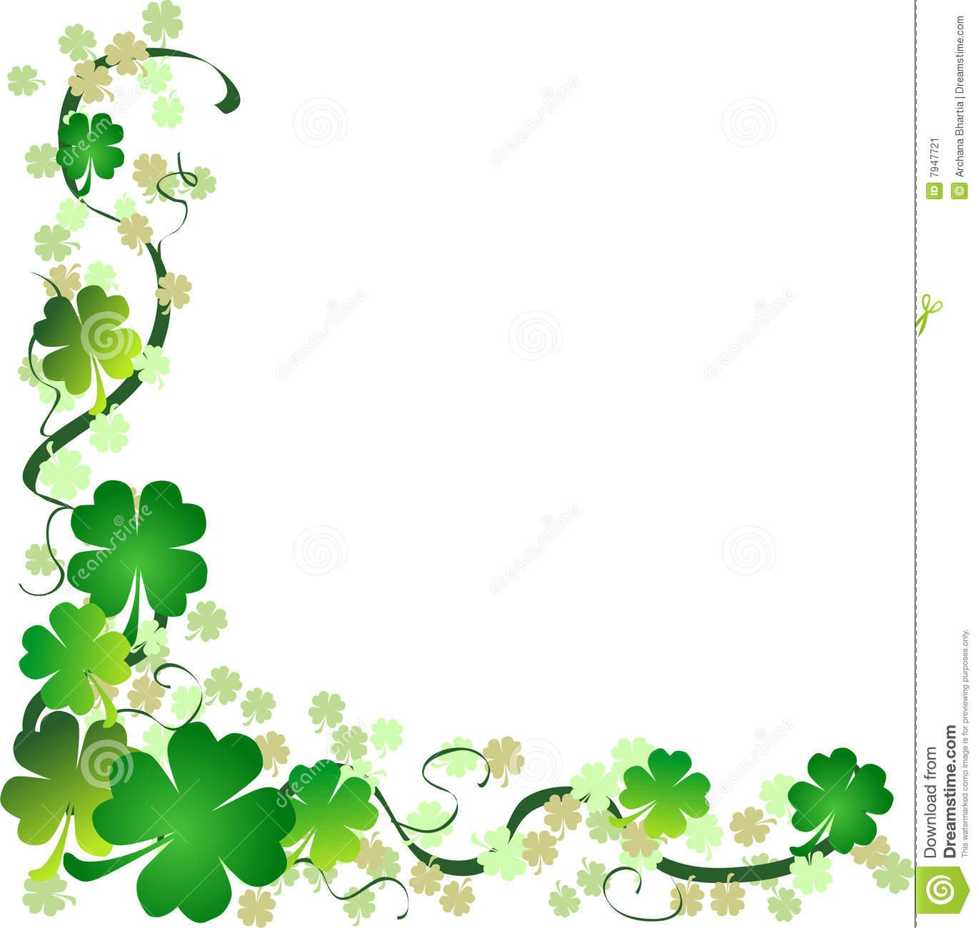 St. Patrick's Day Background Stock Vector.