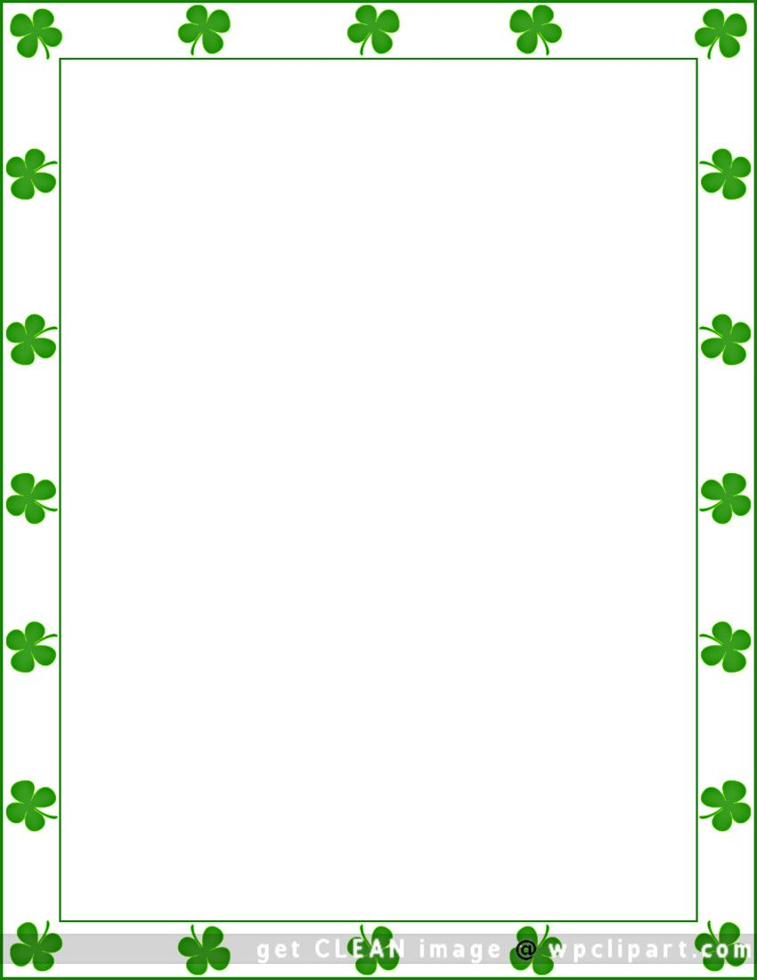 St. Patrick\'s Day shamrock border.
