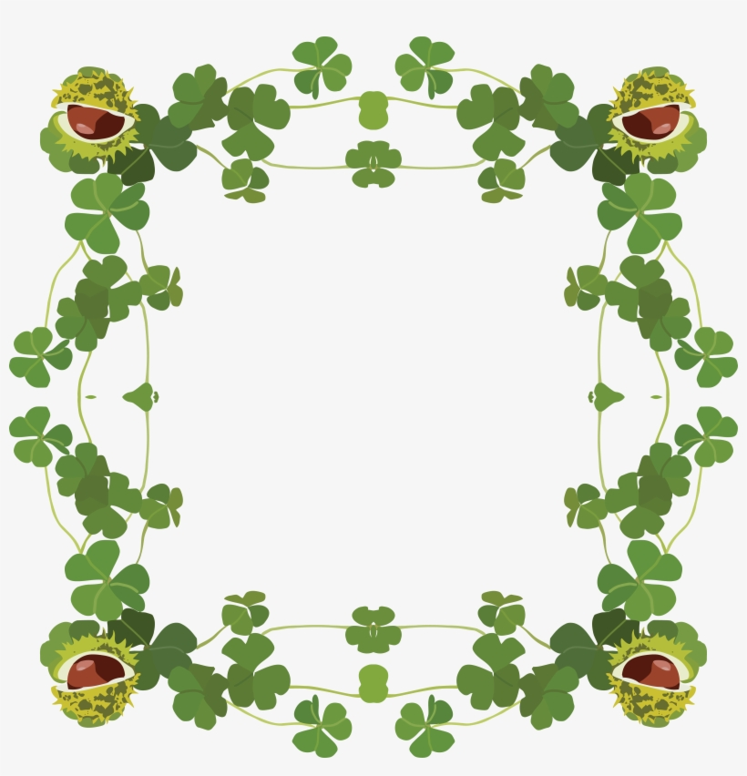 Free Clipart Of A St Patricks Day Border Of Shamrock.
