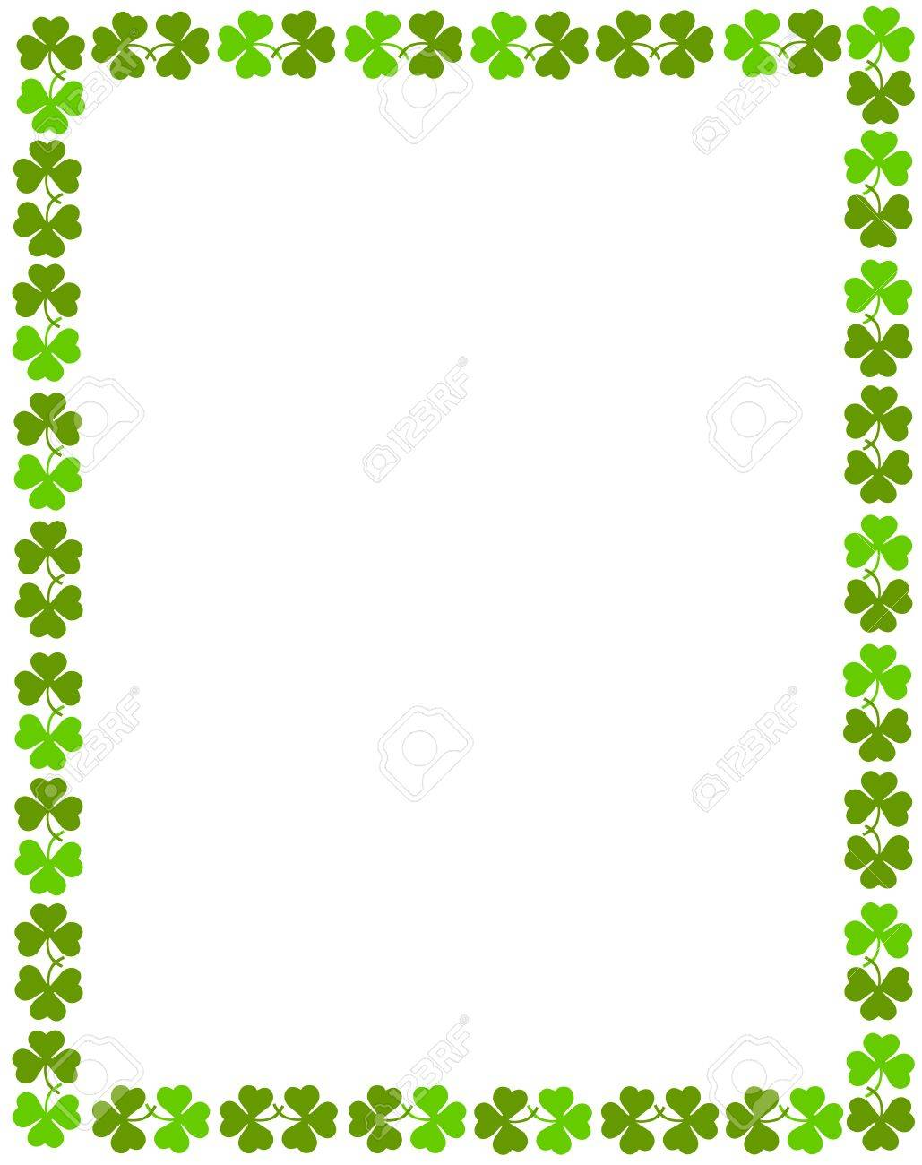 Download Free png Green Clover St. Patrick\'s Day Background.